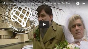 Filmpje Zondag 14 mei: Moeder en zoon trouwen