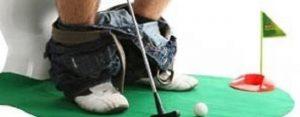 Dinsdag 6 juni Plaatje: WC-golf