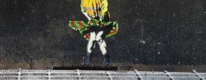 Dinsdag 10 oktober Plaatje: Schoonmakersstraatkunst
