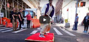 Donderdag 15 februari Filmpje: Aladdin door de stad