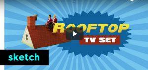 Maandag 12 maart Filmpje: Rooftop TV set