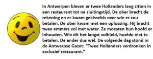 Woensdag 20 juni Mop: Hollanders in restaurant