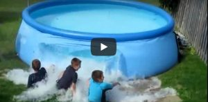 Vrijdag 6 juli Filmpje: Zwembad gaat stuk