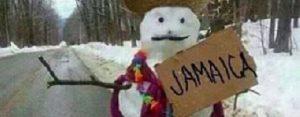 Zaterdag 5 januari Plaatje: Liftende sneeuwpop
