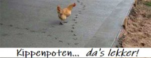 Dinsdag 12 maart Plaatje: Kippenpoten da's lekker