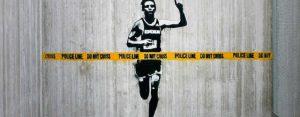 Donderdag 9 april Plaatje: Rennende straatkunst