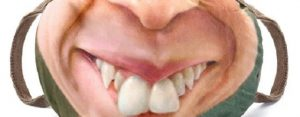 Donderdag 30 april Plaatje: Lelijke-mond-mondkapje