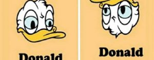 Vrijdag 7 augustus Plaatje: Donald omgedraaid